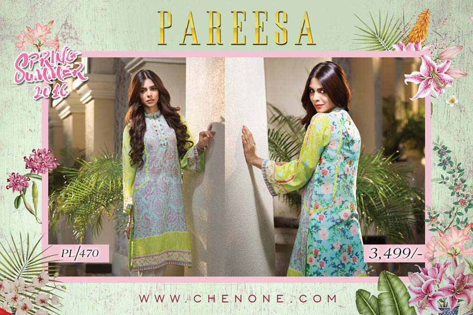 Pareesa By Chen One Spring Summer Lawn Collection 2016-2017 (3)