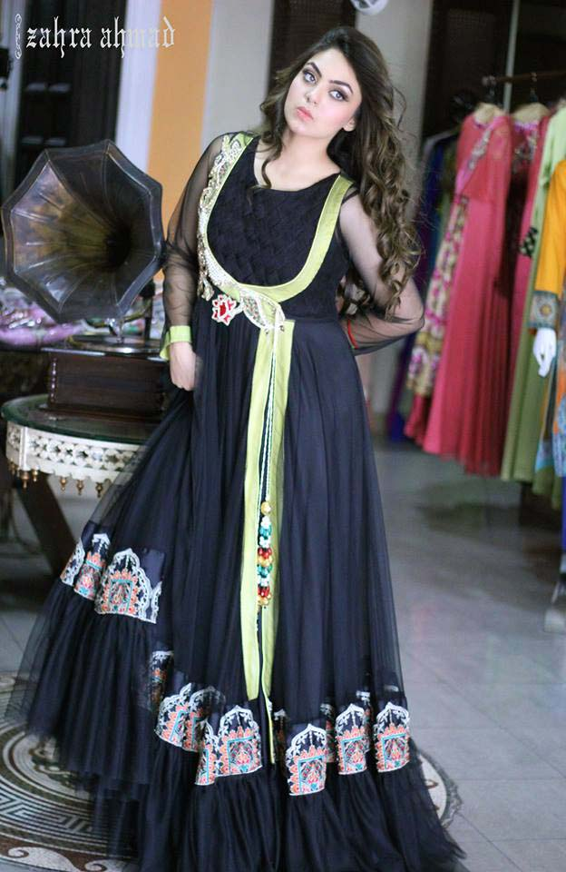 Party Wear & Wedding Wear Frocks Collection For Girls 2016-2017 (10)