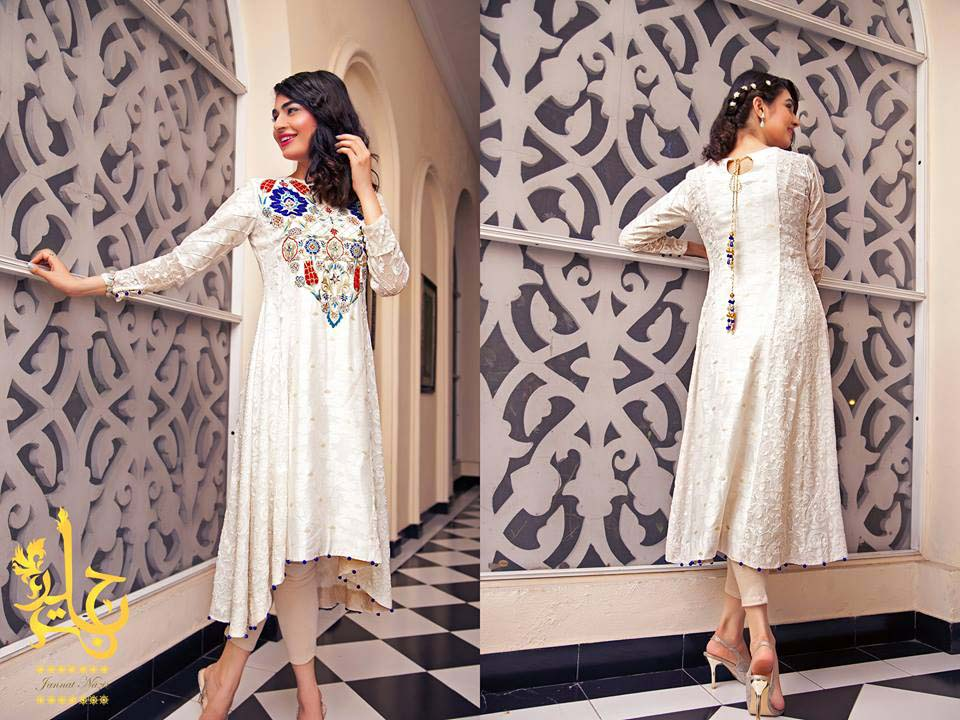 Party Wear & Wedding Wear Frocks Collection For Girls 2016-2017 (12)