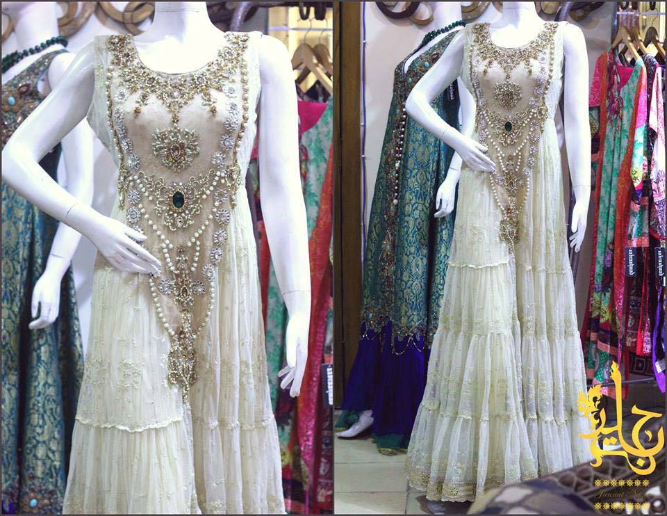 Party Wear & Wedding Wear Frocks Collection For Girls 2016-2017 (13)