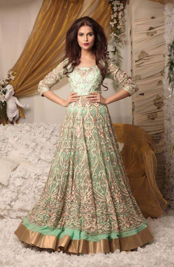 Party Wear & Wedding Wear Frocks Collection For Girls 2016-2017 (14)