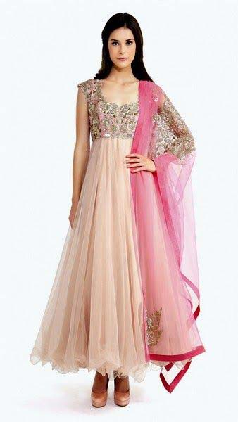 Party Wear & Wedding Wear Frocks Collection For Girls 2016-2017 (15)