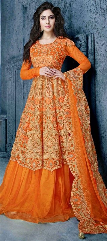 Party Wear & Wedding Wear Frocks Collection For Girls 2016-2017 (17)