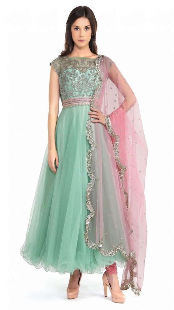 Party Wear & Wedding Wear Frocks Collection For Girls 2016-2017 (2)