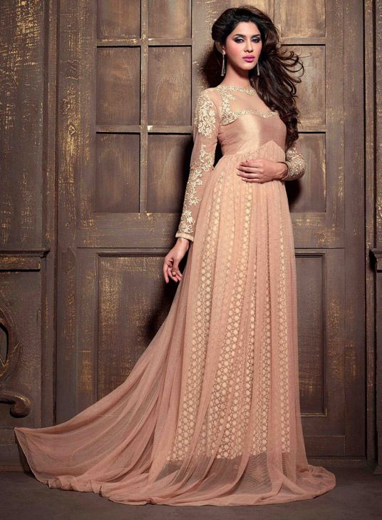 Party Wear & Wedding Wear Frocks Collection For Girls 2016-2017 (21)