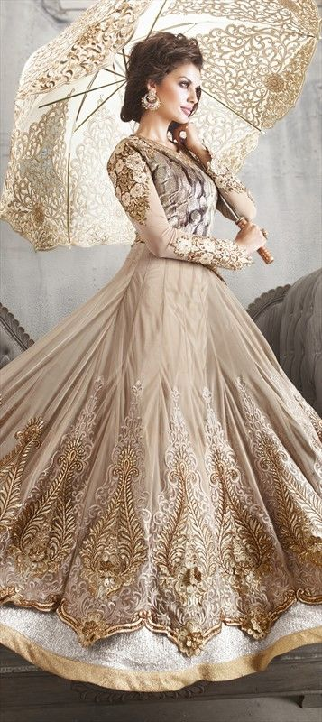 Party Wear & Wedding Wear Frocks Collection For Girls 2016-2017 (24)