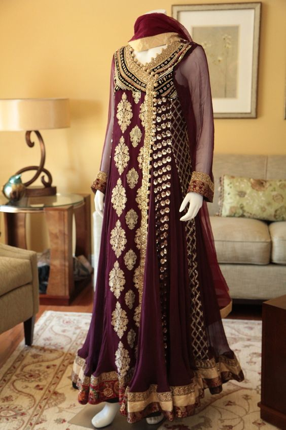 Party Wear & Wedding Wear Frocks Collection For Girls 2016-2017 (25)