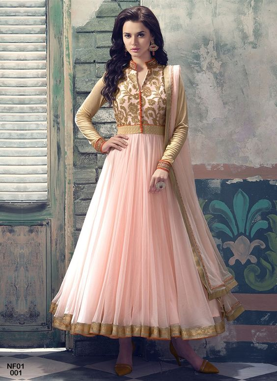 Party Wear & Wedding Wear Frocks Collection For Girls 2016-2017 (26)