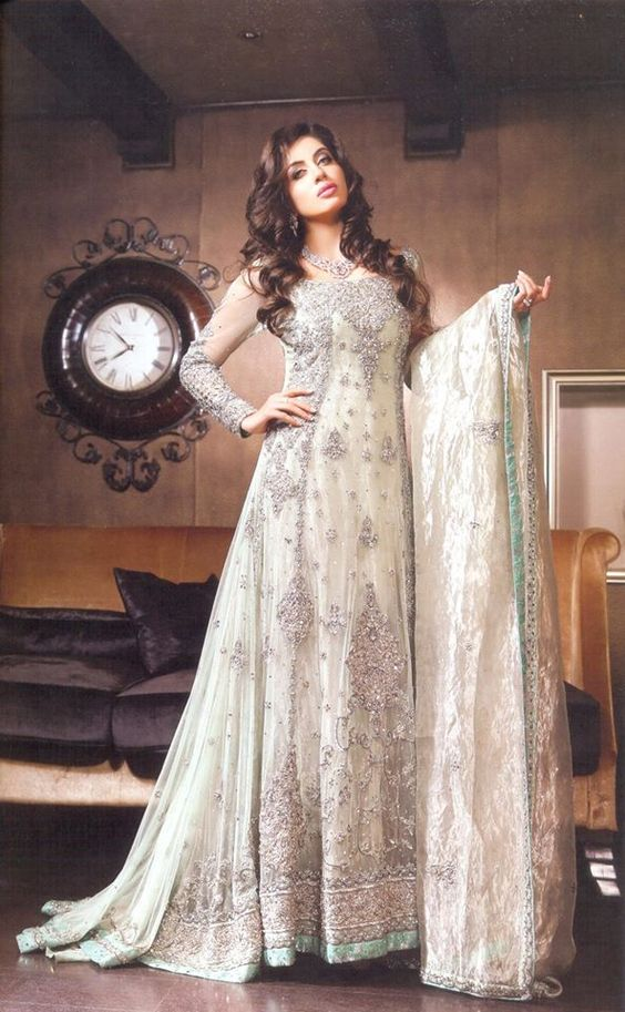 Party Wear & Wedding Wear Frocks Collection For Girls 2016-2017 (27)