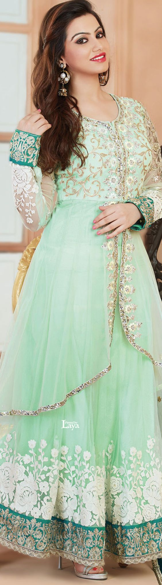 Party Wear & Wedding Wear Frocks Collection For Girls 2016-2017 (28)