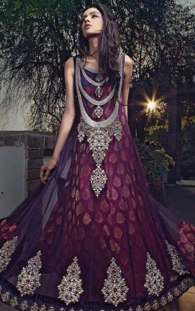 Party Wear & Wedding Wear Frocks Collection For Girls 2016-2017 (29)