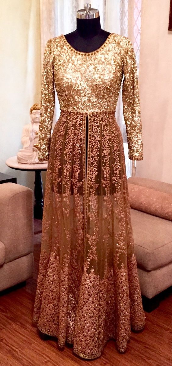 Party Wear & Wedding Wear Frocks Collection For Girls 2016-2017 (30)