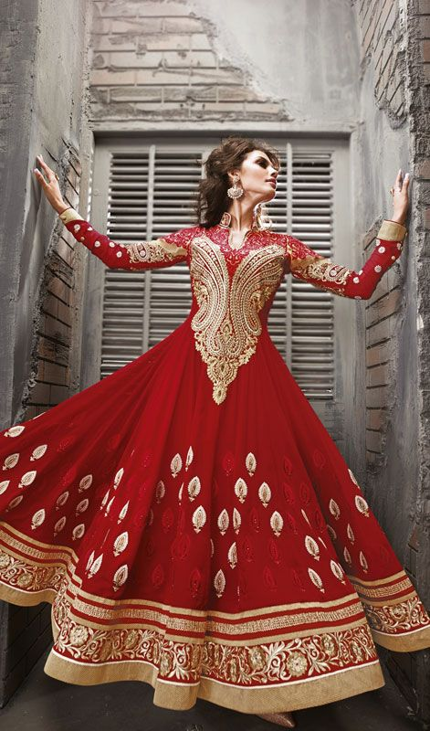Party Wear & Wedding Wear Frocks Collection For Girls 2016-2017 (33)