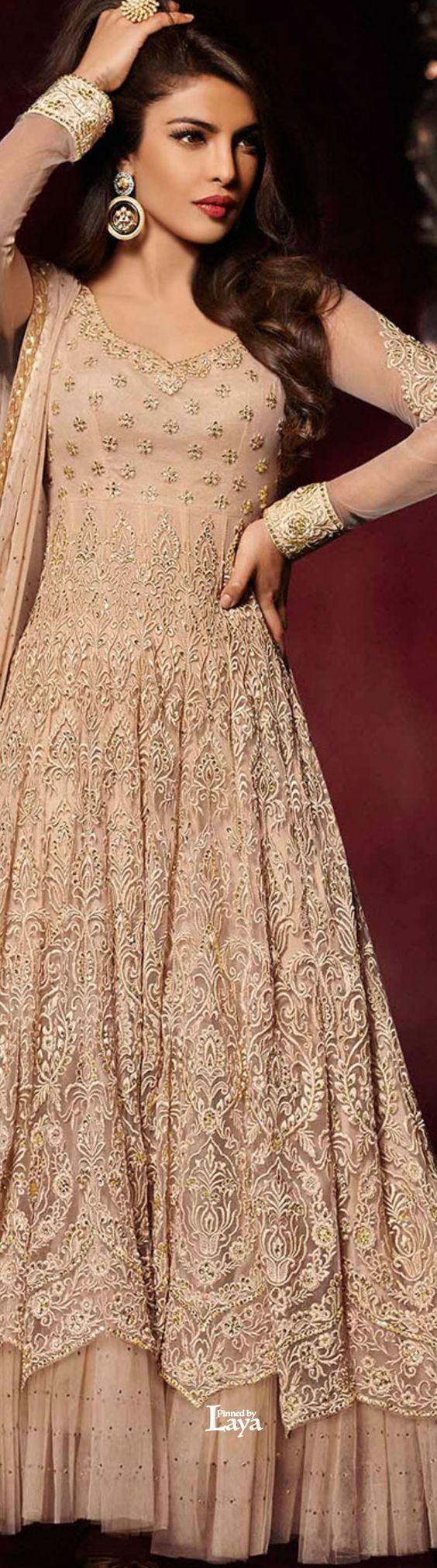 Party Wear & Wedding Wear Frocks Collection For Girls 2016-2017 (34)