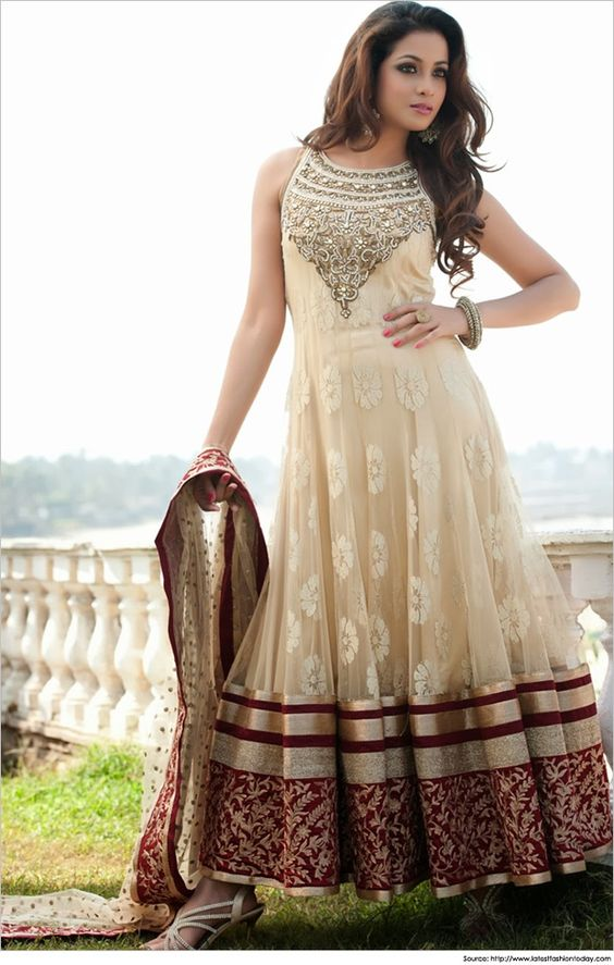 Party Wear & Wedding Wear Frocks Collection For Girls 2016-2017 (36)
