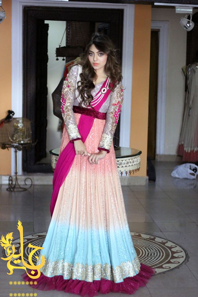 Party Wear & Wedding Wear Frocks Collection For Girls 2016-2017 (8)