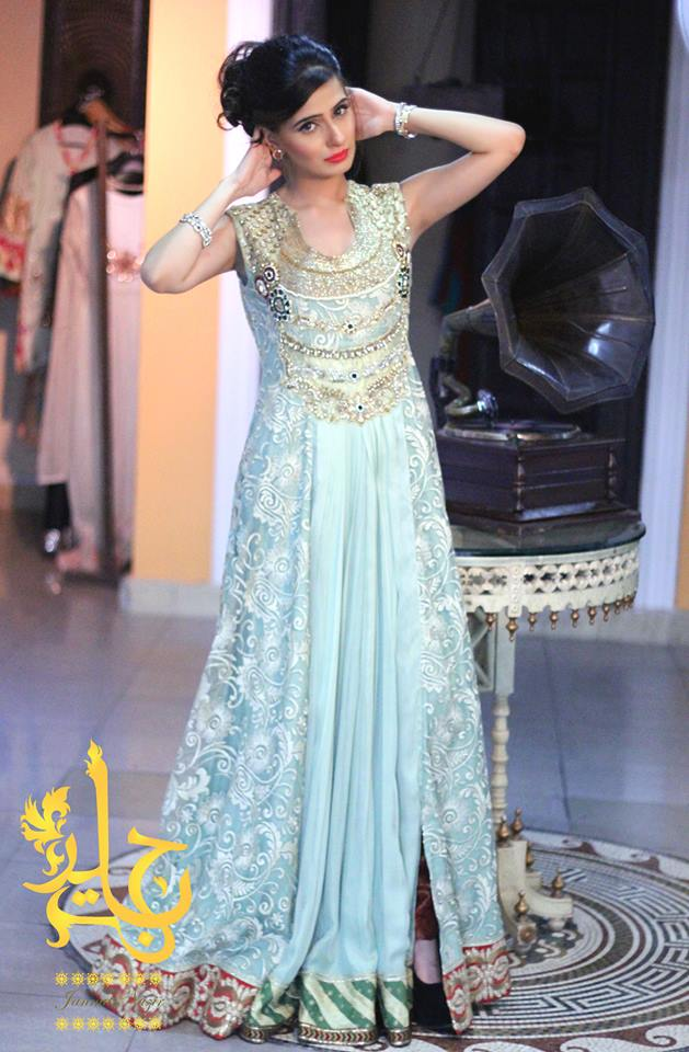 Party Wear & Wedding Wear Frocks Collection For Girls 2016-2017 (9)