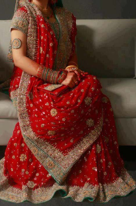 Bridal Wear Red Color Lehenga Designs Collection for Wedding Brides- Top 20 (12)