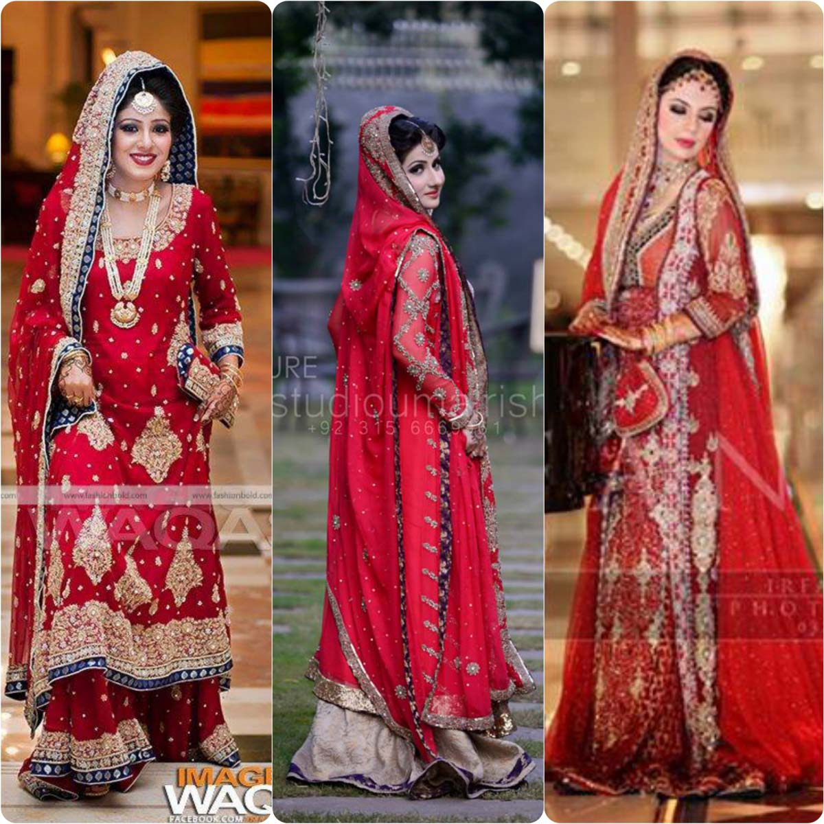 Best Bridal Red Color Barat Dresses 2016 2017 Stylo Planet