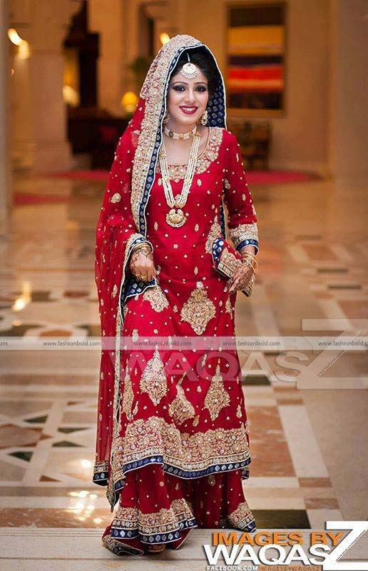 Bridal Wear Red Color Lehenga Designs Collection for Wedding Brides- Top 20 (14)