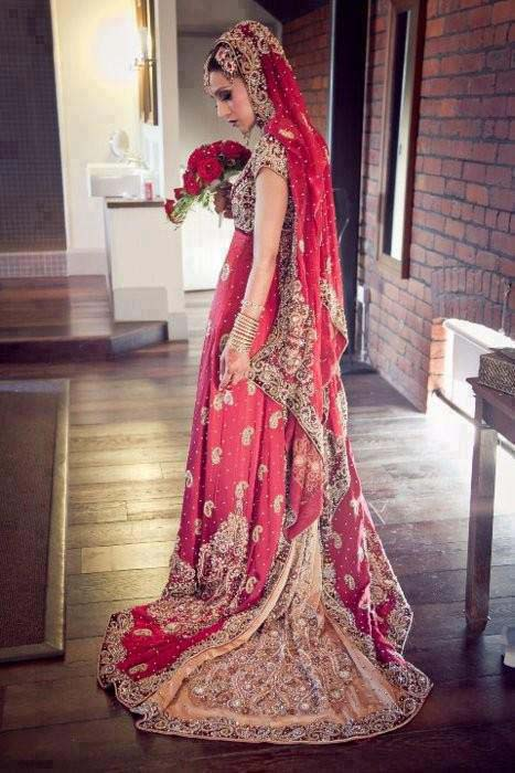 Bridal Wear Red Color Lehenga Designs Collection for Wedding Brides- Top 20 (19)