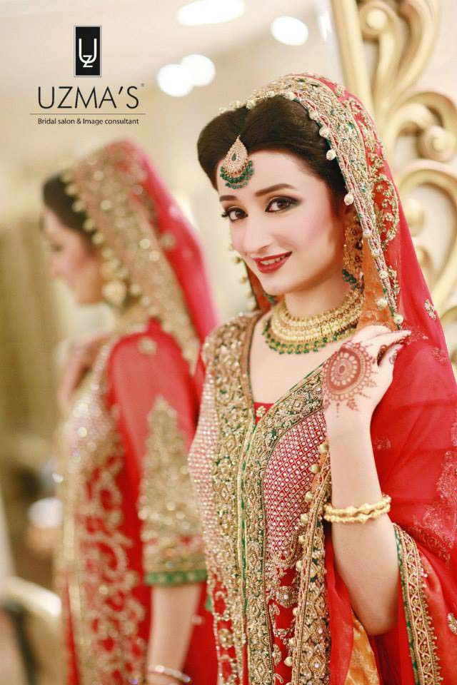 Bridal Wear Red Color Lehenga Designs Collection for Wedding Brides- Top 20 (6)