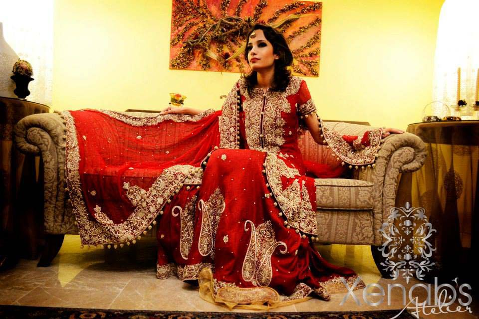Bridal Wear Red Color Lehenga Designs Collection for Wedding Brides- Top 20 (9)