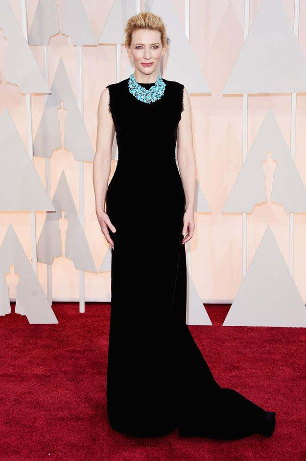 Cate Blanchett in Maison Margiela Couture Dress and Tiffany Blue Book Jewelries Collection (2)