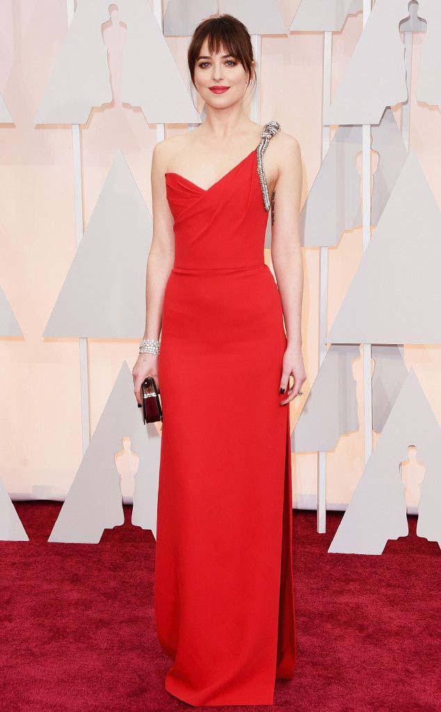 Dakota Johnson in Saint Laurent Dress, Belly Bag and Mark Diamonds Jewelry (2)