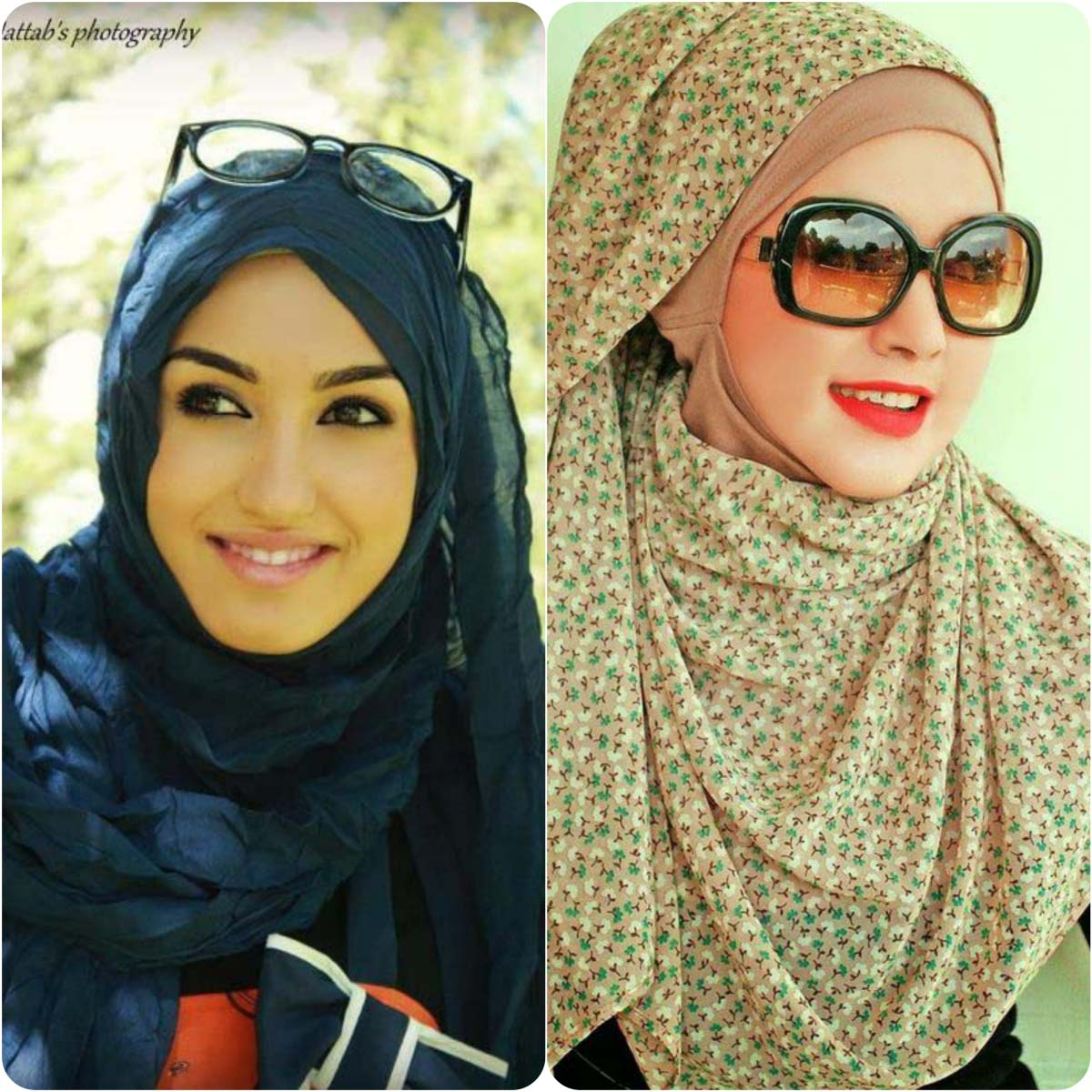 hijab styles with gown