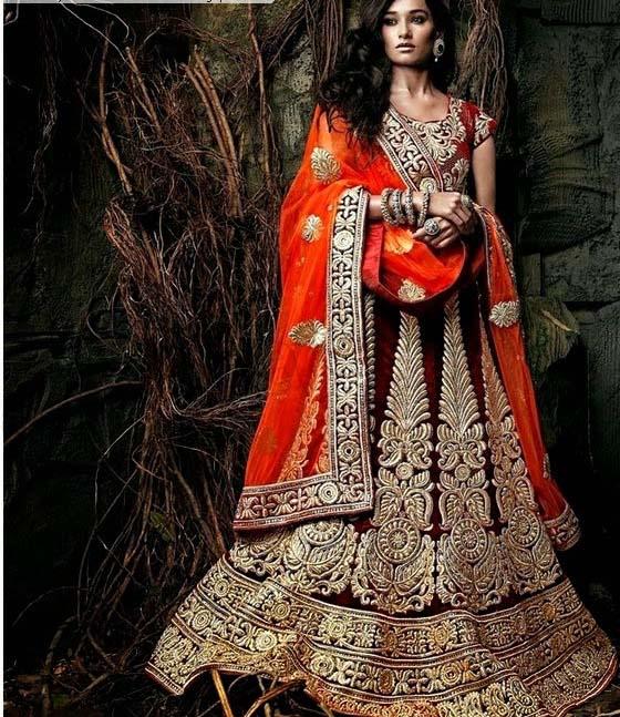 Latest Indian Designers Barat Dresses for Wedding Brides 2016-2017 (20)