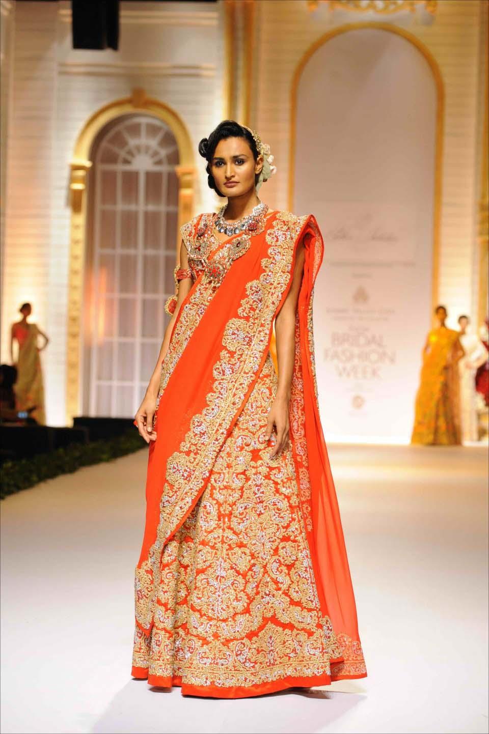 Latest Indian Designers Barat Dresses for Wedding Brides 2016-2017 (23)