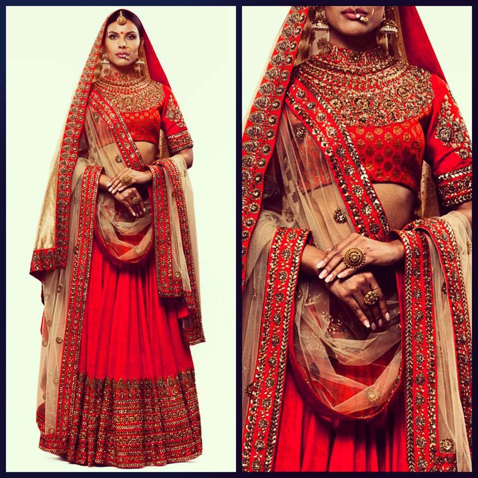 Latest Indian Designers Barat Dresses for Wedding Brides 2016-2017 (28)
