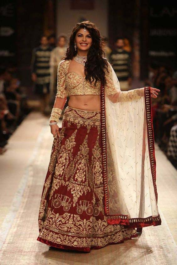 Latest Indian Designers Barat Dresses for Wedding Brides 2016-2017 (5)