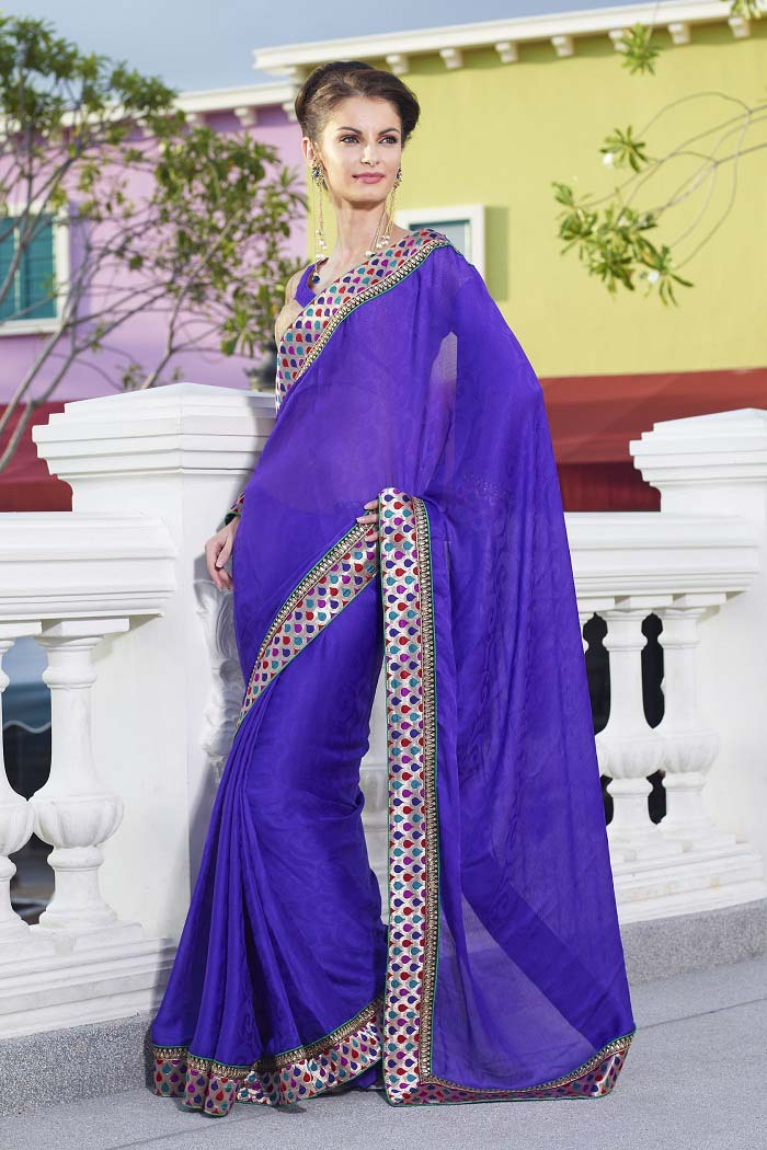 Pakistani & Indian Designers Party Wear Sarees Collection 2016-2107 (12)
