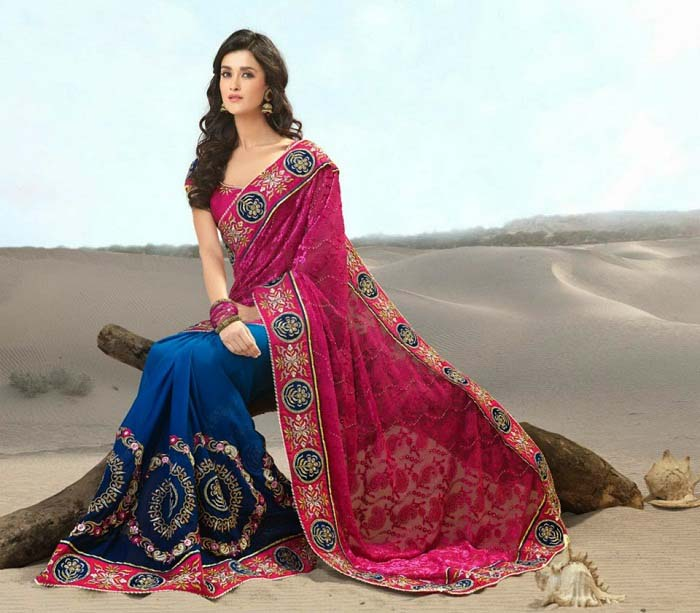 Pakistani & Indian Designers Party Wear Sarees Collection 2016-2107 (2)