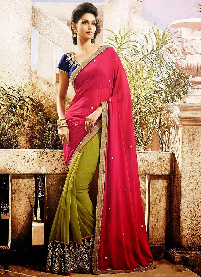 Pakistani & Indian Designers Party Wear Sarees Collection 2016-2107 (21)