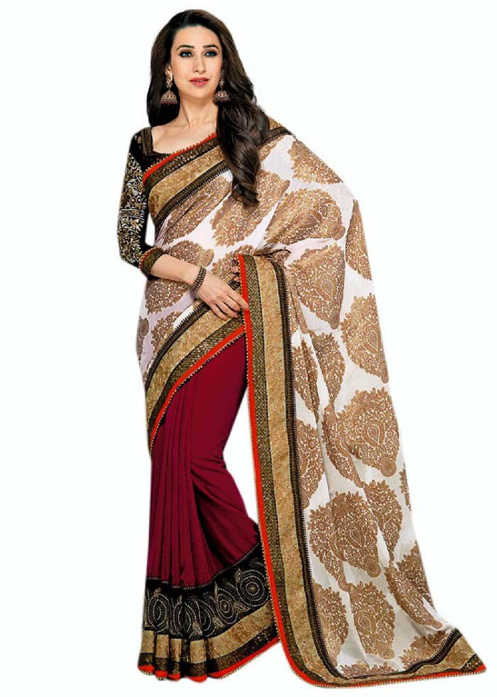 Pakistani & Indian Designers Party Wear Sarees Collection 2016-2107 (4)