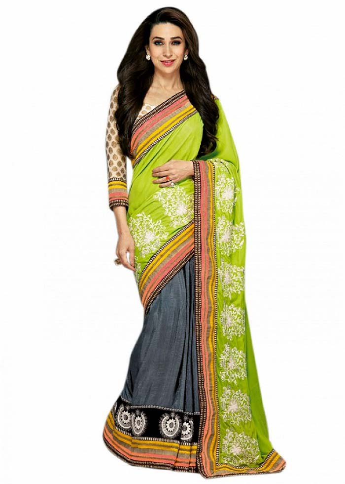 Pakistani & Indian Designers Party Wear Sarees Collection 2016-2107 (8)