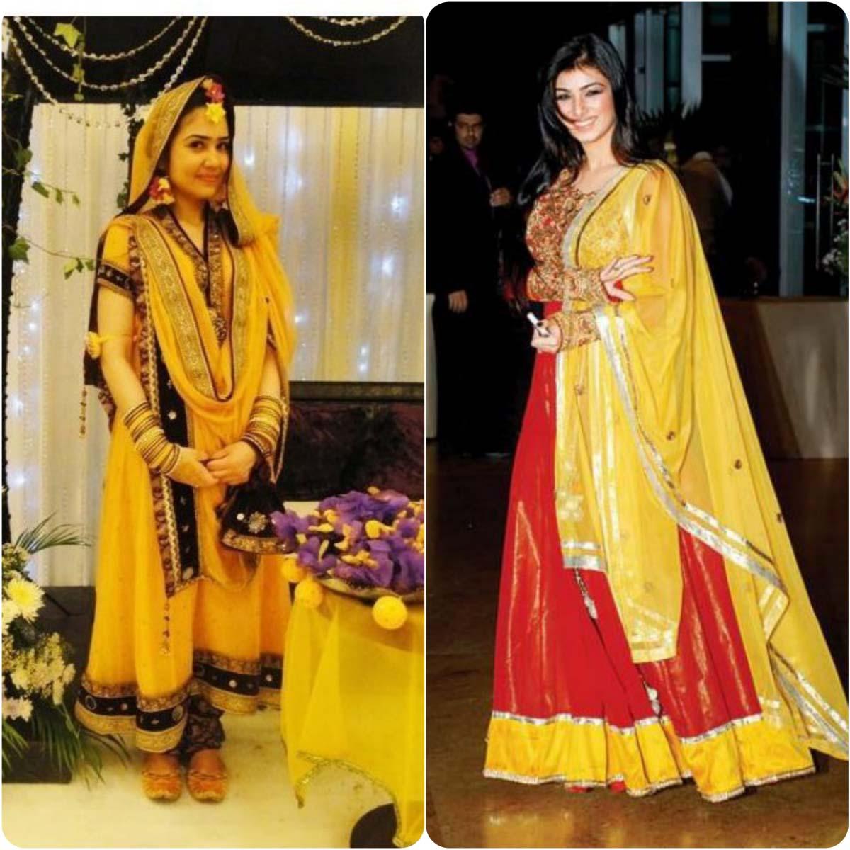 Beautiful Yellow Mehndi Dresses for Wedding Brides 2016-2017 (11)