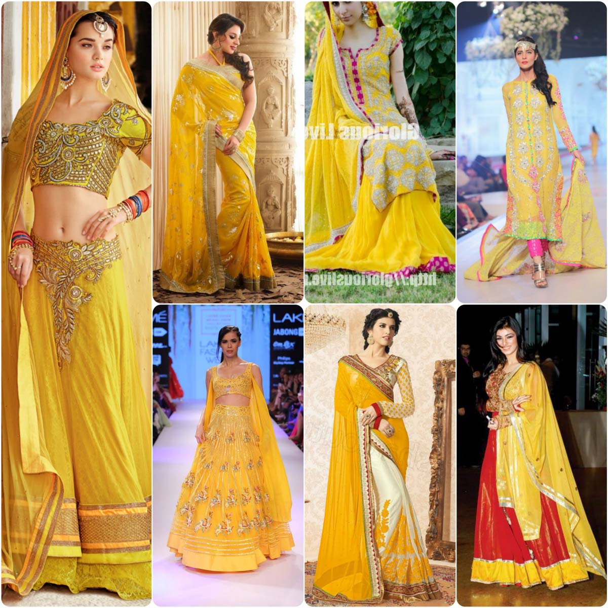 Mehndi Beautiful Dresses : Bridal mehndi dresses in yellow color stylo planet