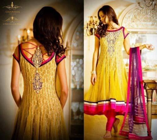 Beautiful Yellow Mehndi Dresses for Wedding Brides 2016-2017 (17)