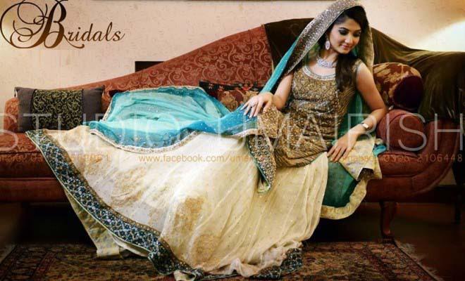 Stylish Walima Dresses For Wedding Pakistani Brides 2016-2017 (15)