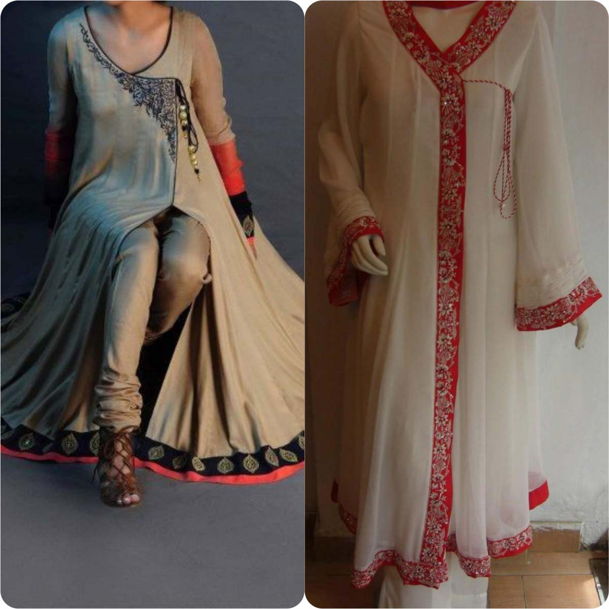 Angrakha Style Frocks and Shirts Design Collection for Women 2016-2017 (13)