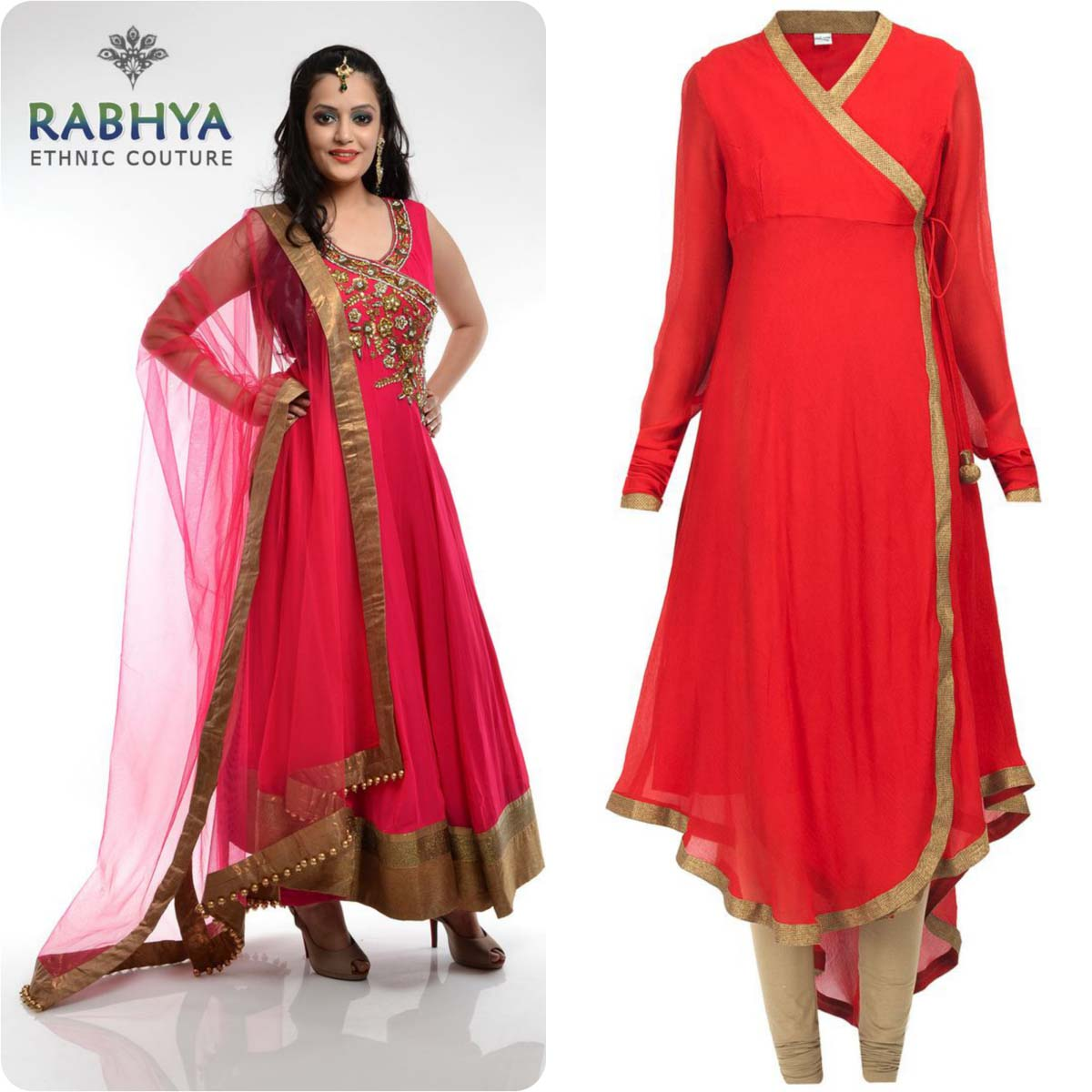 Angrakha Style Frocks and Shirts Design Collection for Women 2016-2017 (4)