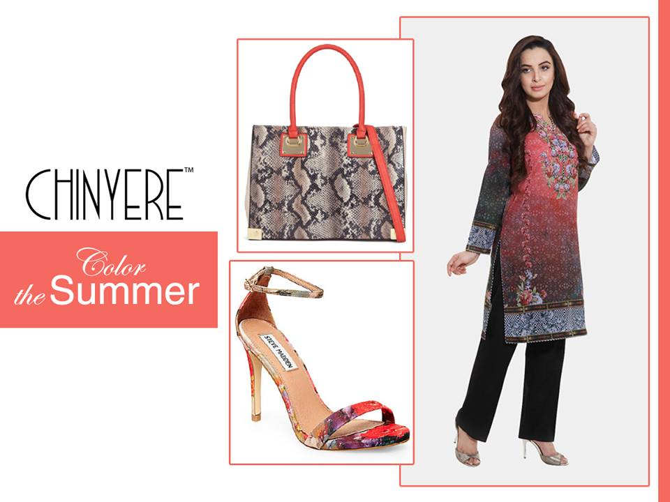 Chinyere dresses with Shoes and Bag collection