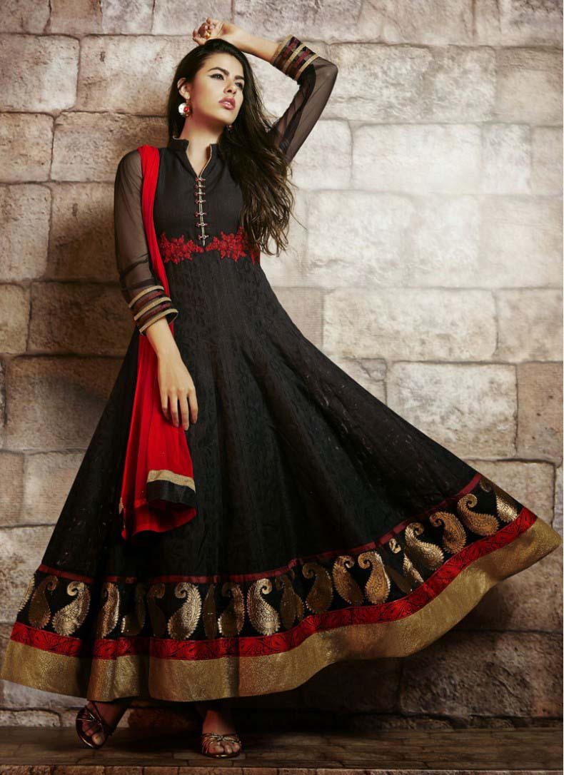 Floor Length Anarkali Frocks & Suits Collection 2016-2107 (1)