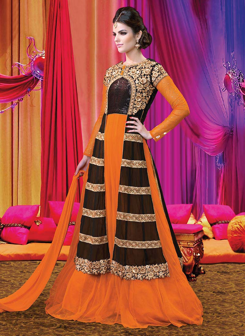 Floor Length Anarkali Frocks & Suits Collection 2016-2107 (10)