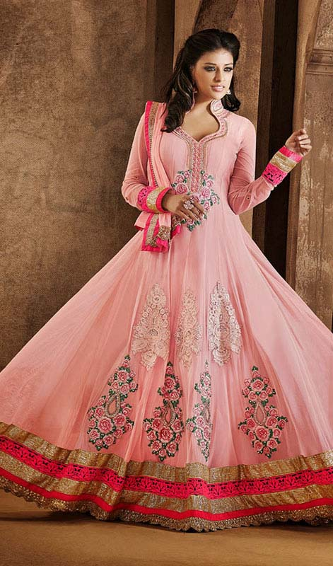 Floor Length Anarkali Frocks & Suits Collection 2016-2107 (11)