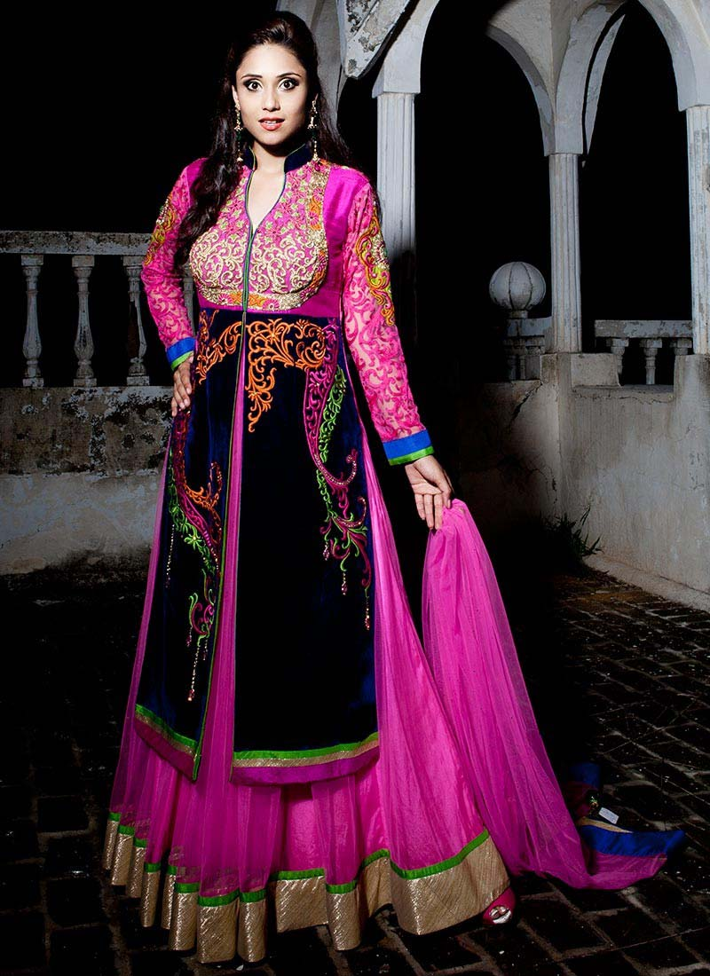Floor Length Anarkali Frocks & Suits Collection 2016-2107 (14)